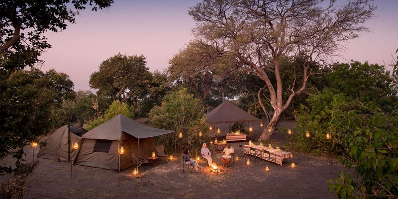 Private mobile camp in Botswana