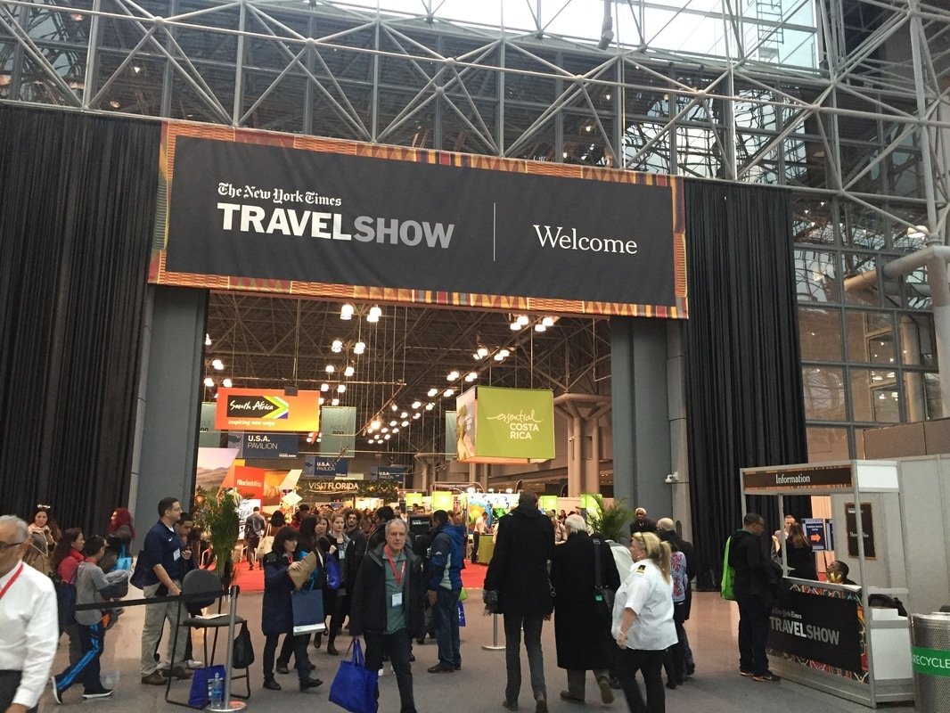 New york times travel show, Ruksana Hussain, Javits Center